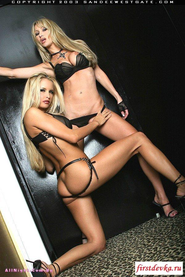 Две блондинки раздевают друг друга (21 фотография)