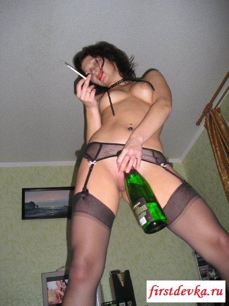 Разврат под алкоголем от проститутки